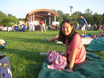 Outdoor summer concert