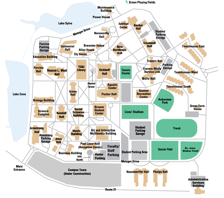 College Of New Jersey Campus Map.The College Of New Jersey Advantage Usa